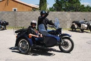 Sidecar hire at Classic Bike Esprit, St Rémy de Provence