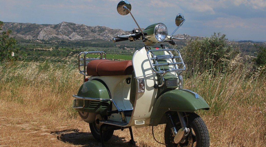 LML STAR 125cc scooter at les Baux de Provence